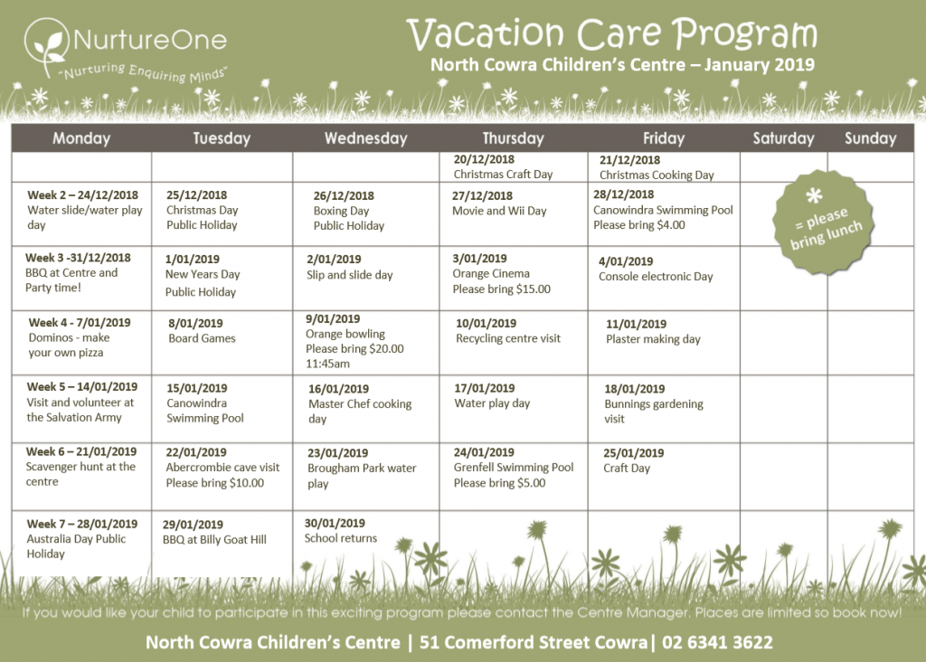 NurtureOne North Cowra - Vacation Care Program - Before & After School Day Care