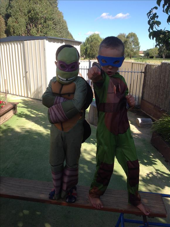 children as superheroes TMNT